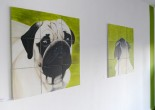 C. Anderl; Möpse im Raum Belair.  Status: Ausstellung läuft! / On show!